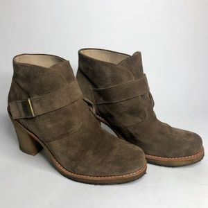 UGG Brienne Tan Suede Ankle Boots Womens 11 US